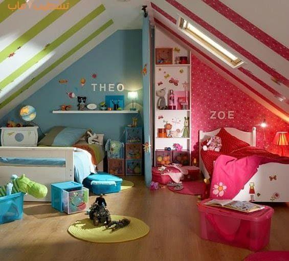 ألوان غرف نوم البنات والاولاد